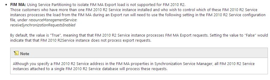 FIMMA FIMService settings